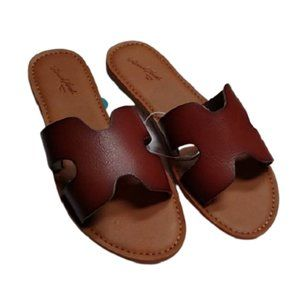 Universal Thread Brown Jenny Slide Sandals